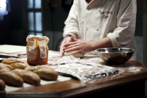 Barry's Bespoke Bakery - Steve Gunn (Brian) kneading dough